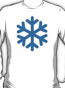 Blue snow symbol T-Shirt