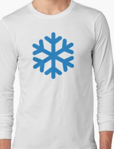 Blue snow symbol Long Sleeve T-Shirt