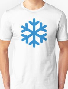 Blue snow symbol Unisex T-Shirt