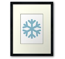 Blue snow icon Framed Print