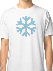 Blue snow icon Classic T-Shirt