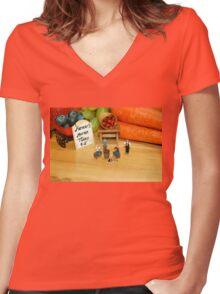Ye Olde Farmer's Market Women's Fitted V-Neck T-Shirt