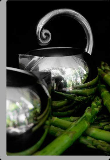 Still life with asparagus by micklyn