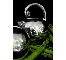 Still life with asparagus Photographic Print