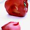 Red pepper with heart by micklyn