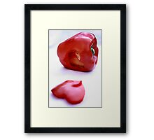 Red pepper with heart Framed Print