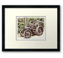 Burrell Steam Traction Engine Framed Print