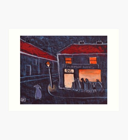 Fish and Chip Shop Art Print