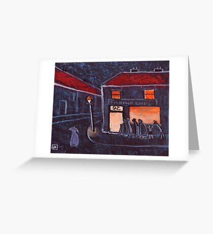 Fish and Chip Shop Greeting Card