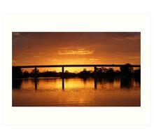 Berri Sunset Art Print
