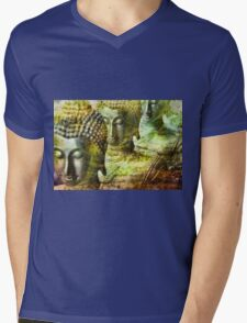 Buddhas yellow Mens V-Neck T-Shirt