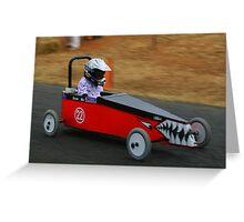 Billy Cart Derby - Mia Greeting Card