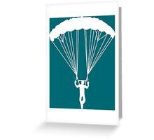 scissor suicide skydive Greeting Card