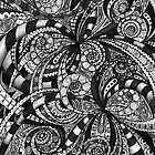Drawing floral abstract background by Medusa81