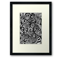 Drawing floral abstract background Framed Print