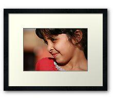 Precious Smile Framed Print
