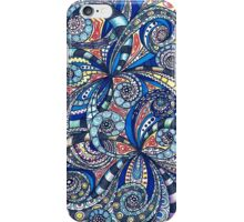 Drawing floral abstract background iPhone Case/Skin
