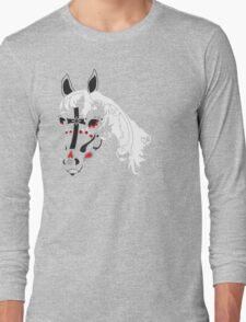 sugar skull horse Long Sleeve T-Shirt