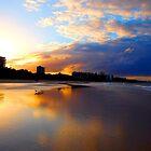 Mooloolaba Beach Sunset by Kate Wall