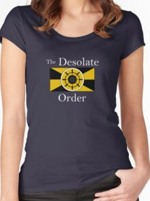 The Desolate Order - white text Women's Fitted Scoop T-Shirt