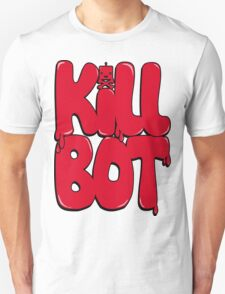 Killbot Bubble Text Red T-Shirt