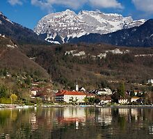 Talloires bay on Annecy lake by Patrick Morand