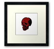 Bloody Red Punk Skull Framed Print