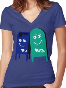 love mailboxes Women's Fitted V-Neck T-Shirt