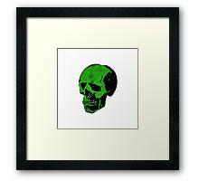 Acid Punk Green Skull Framed Print