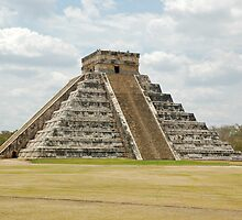 The large Pyramid at Chichen-Itza by Mountainimage