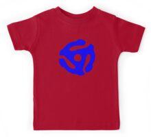 Blue 45 Vinyl Record Symbol Kids Tee