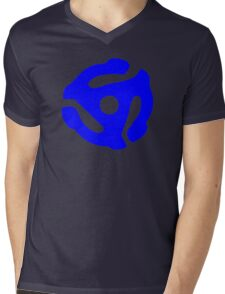 Blue 45 Vinyl Record Symbol Mens V-Neck T-Shirt