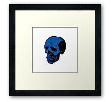 True Blue Punk Skull Framed Print