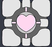 Portal Companion Cube by MicahTheStrange