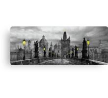 BW Prague Charles Bridge 06 Canvas Print