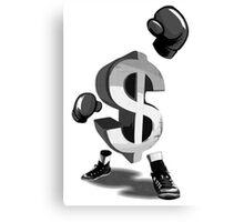 Money Stance Win Canvas Print