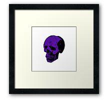 Royal Punk Purple Skull Framed Print