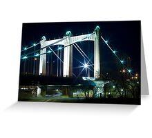 Lighted Bridge Greeting Card