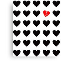 odd heart out Canvas Print
