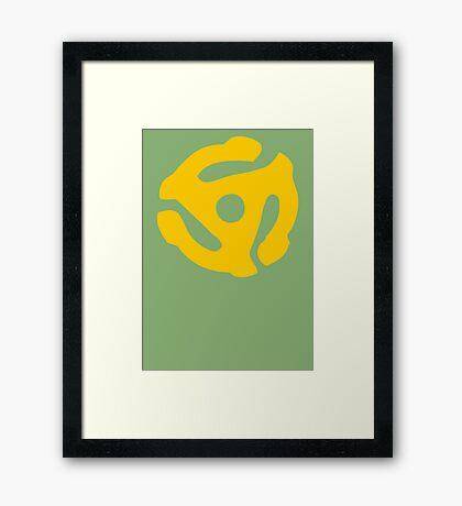 Gold 45 Vinyl Record Symbol Framed Print