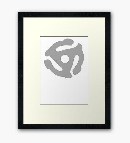 Gray 45 Vinyl Record Symbol Framed Print