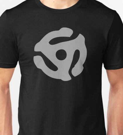 Gray 45 Vinyl Record Symbol Unisex T-Shirt