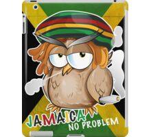 jamaican owl cartoon  iPad Case/Skin