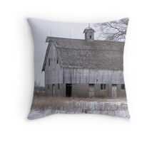 unique two story old barn Throw Pillow