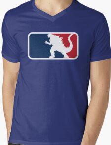 Godzilla Mens V-Neck T-Shirt