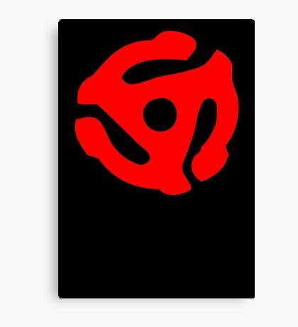 Red 45 Vinyl Record Symbol Canvas Print