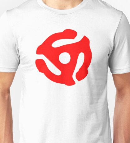 Red 45 Vinyl Record Symbol Unisex T-Shirt