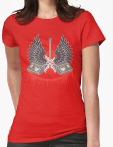 British Music Guitar Wings Collage Womens Fitted T-Shirt