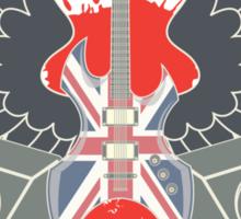 British Music Guitar Wings Collage Sticker