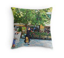 Athens Street Trader Throw Pillow